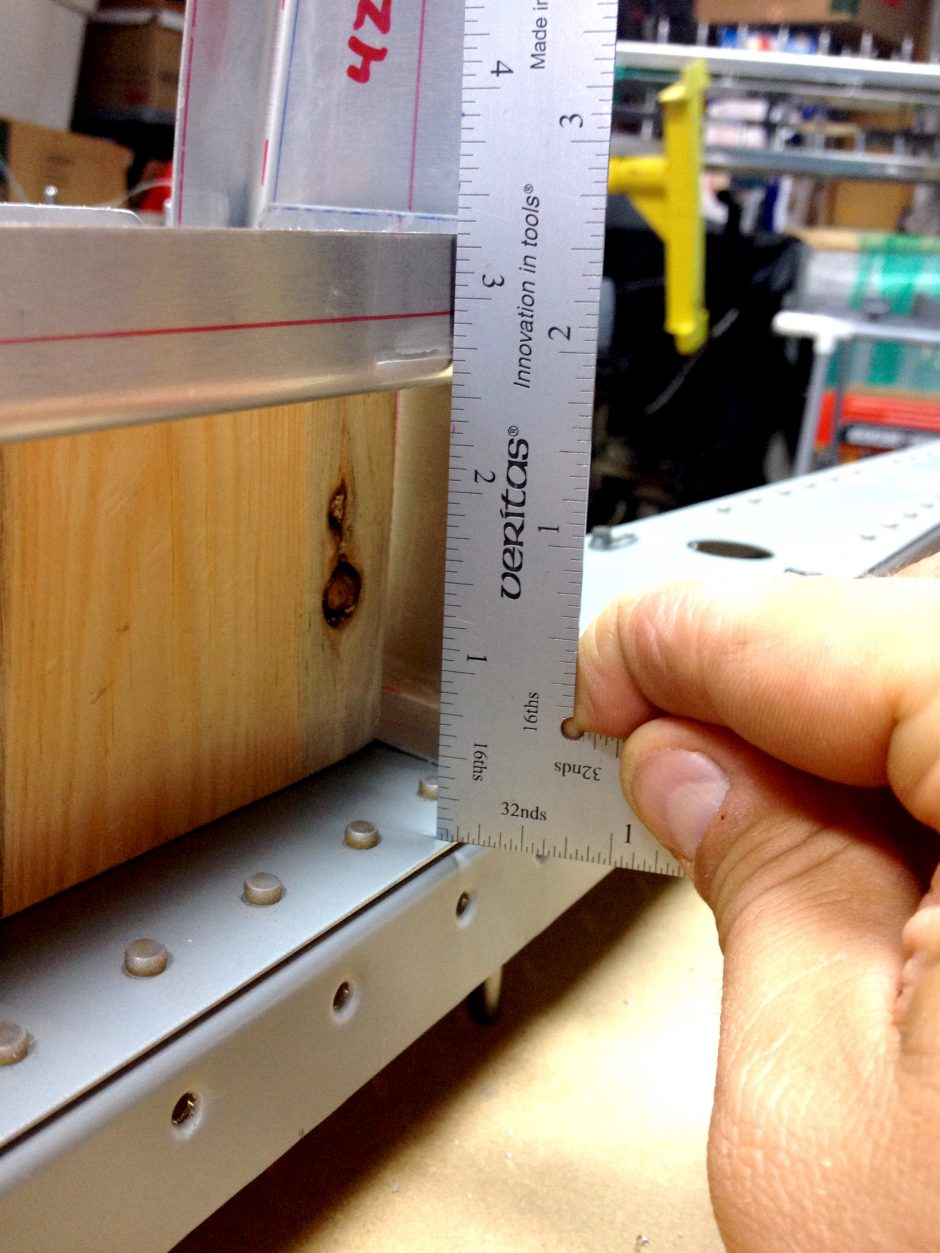 Confirming the 2.5 inch spacing.